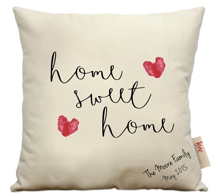 Home Sweet Home, red hearts