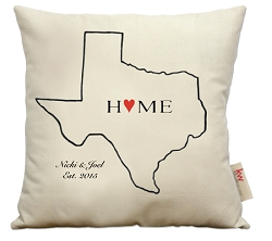 Home with heart, select your state outline