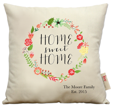 home sweet home pillow Home Sweet Home Wreath home sweet home pillow